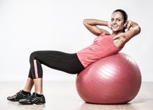 Athletic woman doing exercise Royalty Free Stock Photo