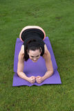 Athletic Woman Doing Yoga Outdoors Royalty Free Stock Photos