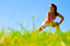 Athletic Woman Exercising Royalty Free Stock Photos
