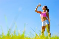 Athletic Woman Exercising Royalty Free Stock Image