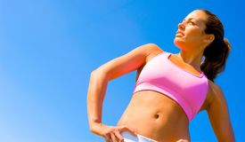 Athletic Woman Exercising Royalty Free Stock Images
