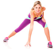 Athletic woman exercising Royalty Free Stock Photography