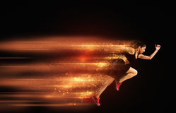 Athletic woman fast runner Royalty Free Stock Images