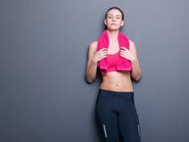 Athletic woman posing in sportswear Stock Images
