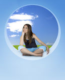 Athletic woman relaxing Royalty Free Stock Image