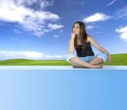 Athletic woman relaxing Royalty Free Stock Photography