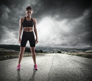 Athletic woman runner Royalty Free Stock Photo