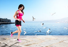 Athletic woman runner Stock Photography