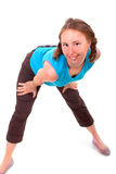 Athletic woman in sexual pose Royalty Free Stock Image