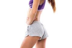 Athletic woman showing her buttocks Royalty Free Stock Photos