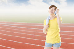Athletic woman Stock Photography