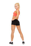 Athletic woman in sportswear from the back Royalty Free Stock Photography