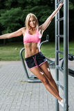 Athletic woman during training Royalty Free Stock Photo