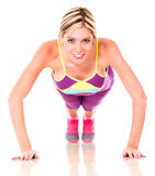 Athletic woman working out Stock Photo