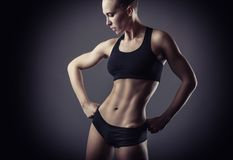 Athletic woman stock photos