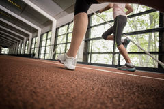 Athletic women running Stock Images
