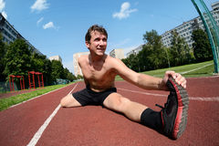 Athletic workout Stock Images
