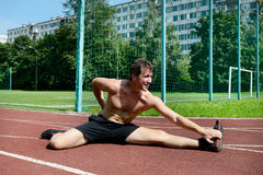 Athletic workout Royalty Free Stock Image