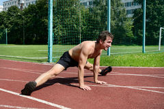 Athletic workout Royalty Free Stock Images
