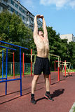 Athletic workout in summer Stock Photos