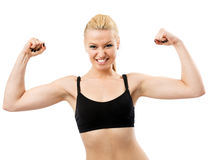 Athletic young lady Stock Images