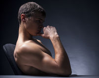 Athletic young man Royalty Free Stock Photos