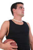 Athletic Young Man With Football Royalty Free Stock Photos