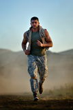 Athletic young man  outdoor Royalty Free Stock Photos