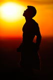 Athletic young man outdoor at sunset Royalty Free Stock Photos