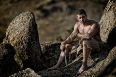Athletic young man outdoor Royalty Free Stock Photography