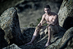 Athletic young man outdoor Stock Photos