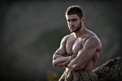 Athletic young man outdoor Royalty Free Stock Image
