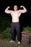 Athletic Young Man Outdoors At Night Stock Photo