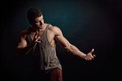 Athletic young man portrait Royalty Free Stock Image