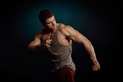 Athletic young man portrait Royalty Free Stock Images
