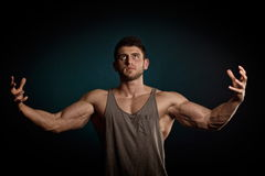 Athletic young man portrait Stock Photos