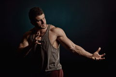 Athletic young man portrait Stock Images