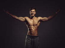 Athletic young man posing Royalty Free Stock Photo