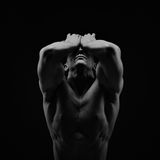 Athletic young man Stock Images