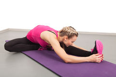 Athletic young woman doing exercises Royalty Free Stock Photo