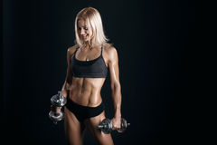 Athletic young woman Royalty Free Stock Photography