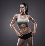 Athletic young woman doing a fitness workout Royalty Free Stock Photography