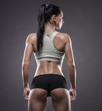 Athletic young woman doing a fitness workout Stock Image