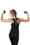 Athletic young woman with dumbbells Stock Photography