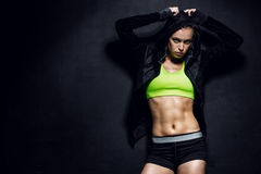 Athletic young woman Royalty Free Stock Images