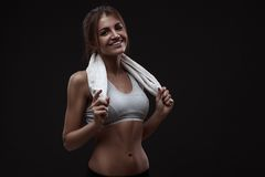 Athletic young woman Royalty Free Stock Photo