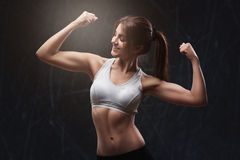 Athletic young woman Stock Photos