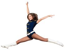 Athletic young woman jumping Stock Photography