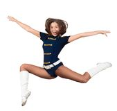 Athletic young woman jumping Royalty Free Stock Image