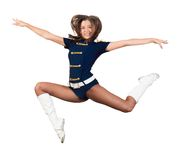 Athletic young woman jumping Royalty Free Stock Images